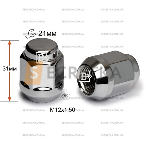 Гайка колесная M12x1,5x35 Конус (S13900)