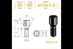 Болт колесный Ellis M14x1,5x28 Конус (B402B)